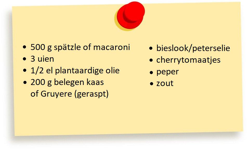 Recept Käsespätzle